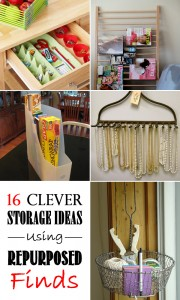 16 Clever Storage Ideas Using Repurposed Finds