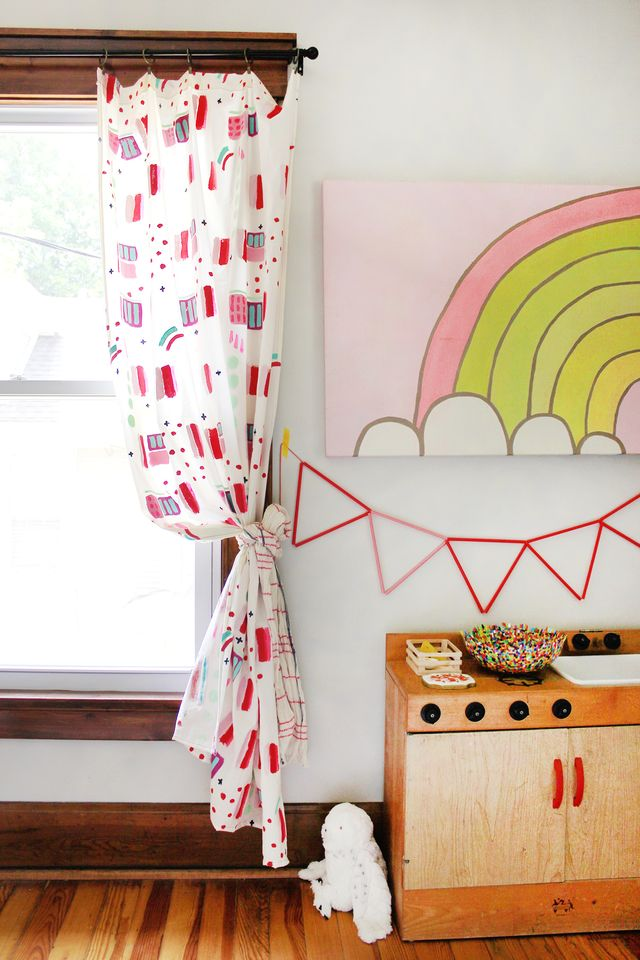 Add Color to any Room with Hand-painted Abstract Curtains