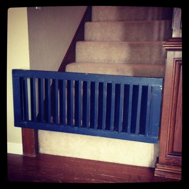 Baby Gate from an Old Wooden Shutter