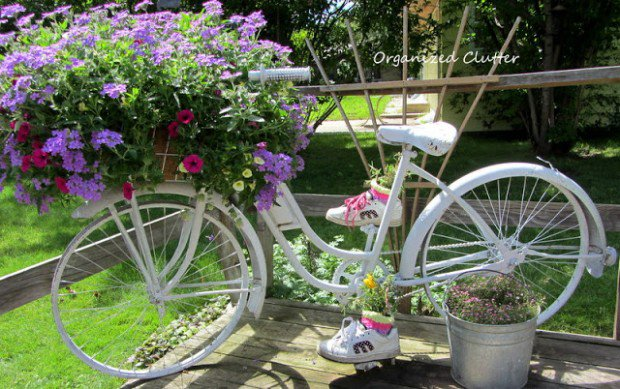 Add A Bike To Your Garden Just For The Fun Of It. Bicycle Planter