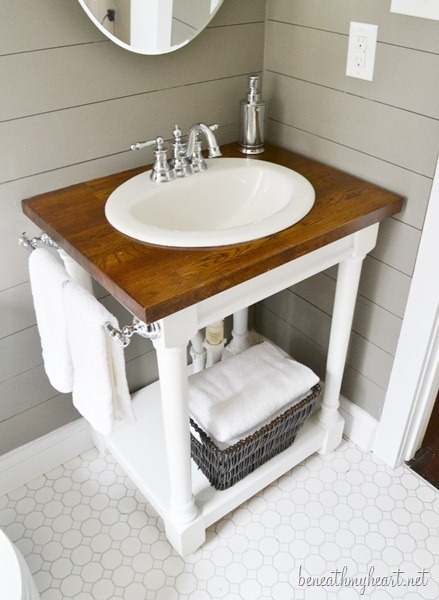 Butcher Block Vanity. Bathroom ...