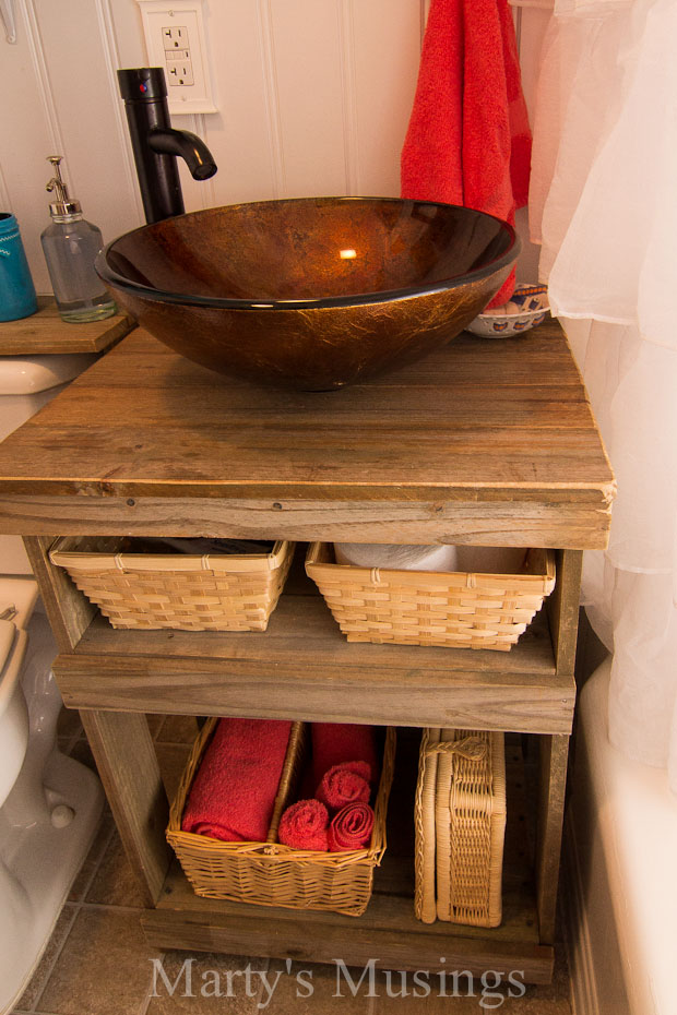 Fence Board Bathroom Cabinet