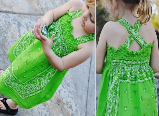 Girl's Bandana Dress