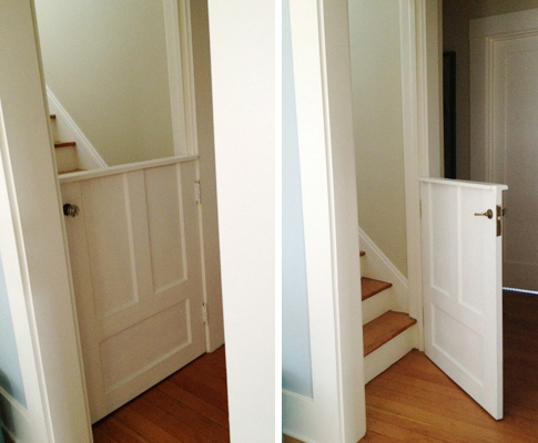10 diy baby gates for stairs for Half door ideas