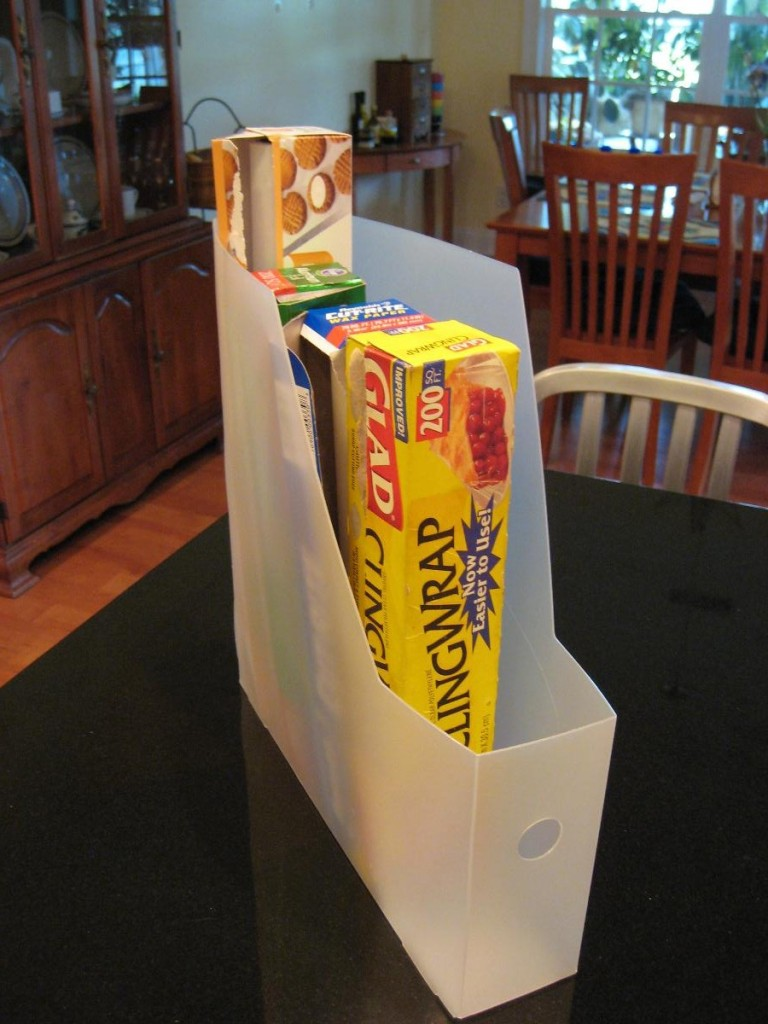 Magazine Holder To Store Kitchen Supplies