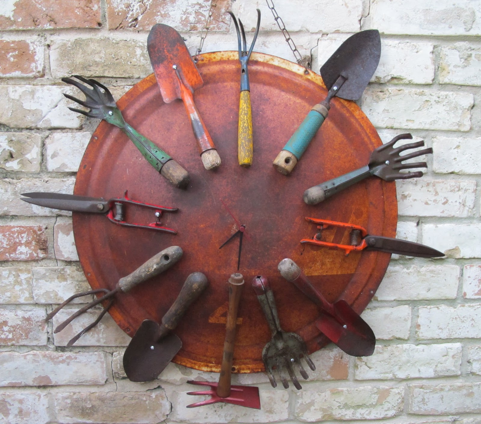 Old Garden Tools as a Wall Decoration
