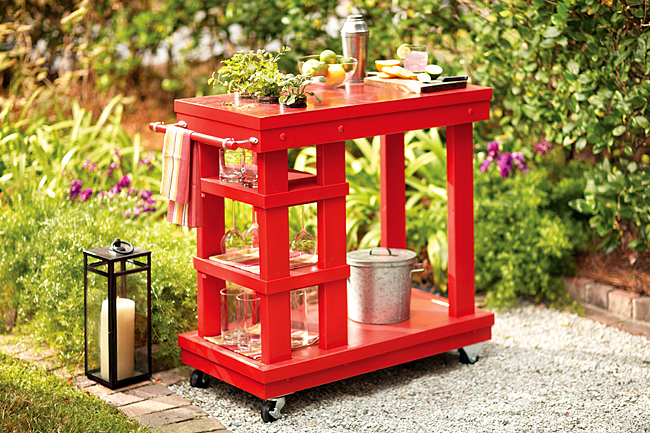Outdoor Serving Cart