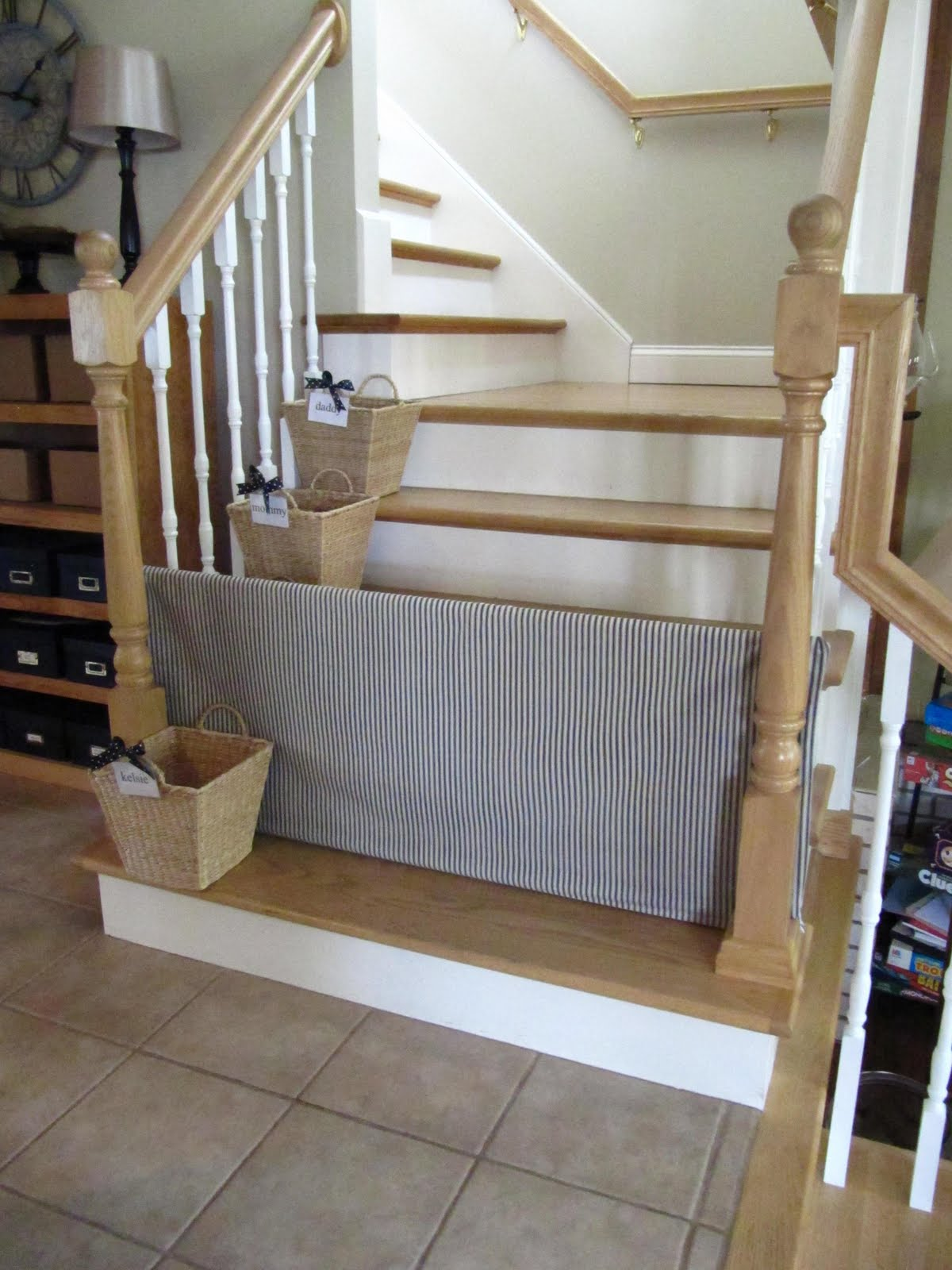 Charmant That Gate Just Rests Between The Spindles Of The Stairs. You Can Slide It  Back And Forth To Get Through. Tutorial: Sew Many Ways