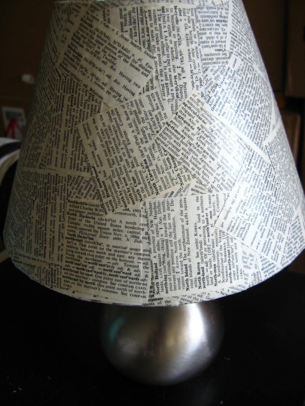 Re-cover a Boring Lampshade