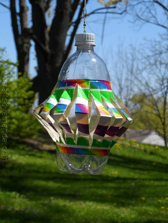 Recycled Plastic Bottle Wind Spinner
