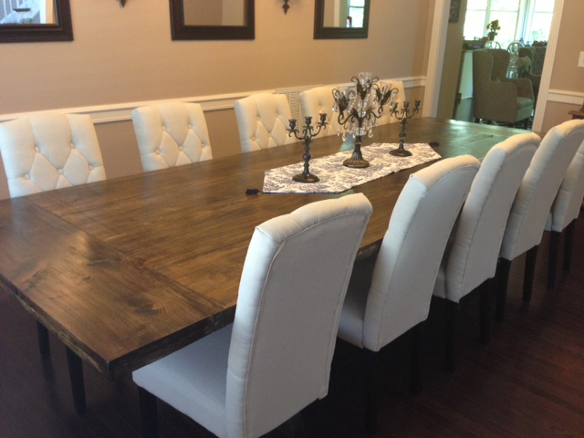 10. Rustic Dining Room Table