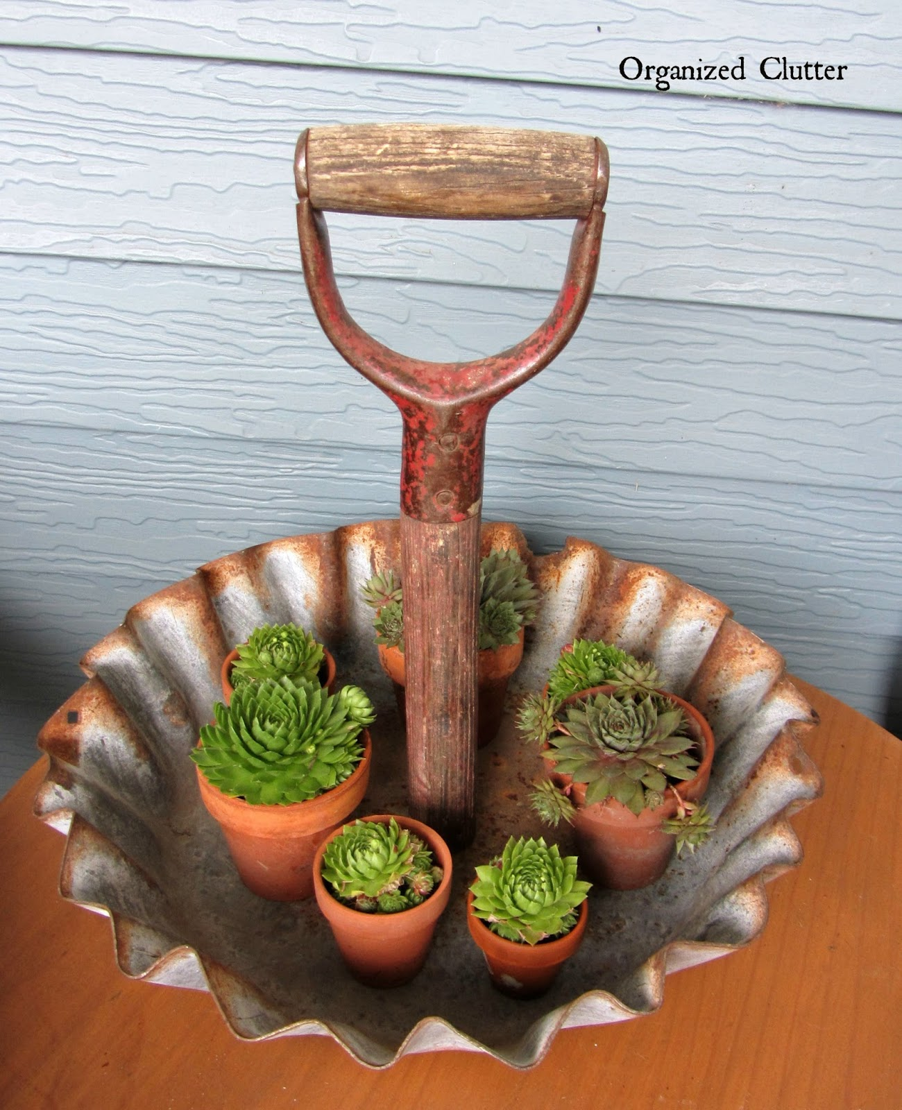 Rustic Shovel Handle Display Tray