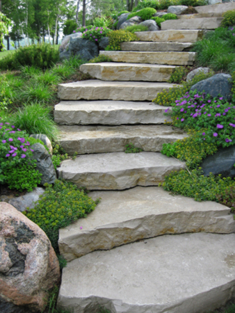 Stone-Slabs Ideas Sloping Backyard With Pavers on garden with pavers, outdoor fireplace with pavers, landscape design with pavers, small yards with pavers, water features with pavers, diy with pavers, swimming pools with pavers, decks with pavers, gardening with pavers, porches with pavers, outdoor kitchen with pavers, patio pavers, backyard patio, retaining walls with pavers,