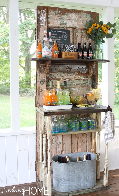 Upcycled Outdoor Beverage Station