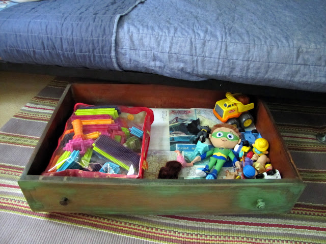 Use an Old Drawer as Under the Bed Storage