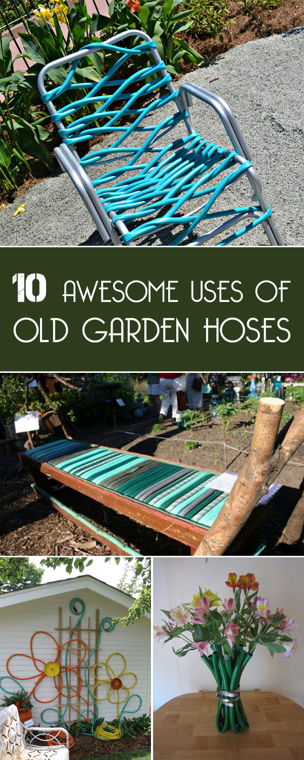 awesome uses of old garden hoses