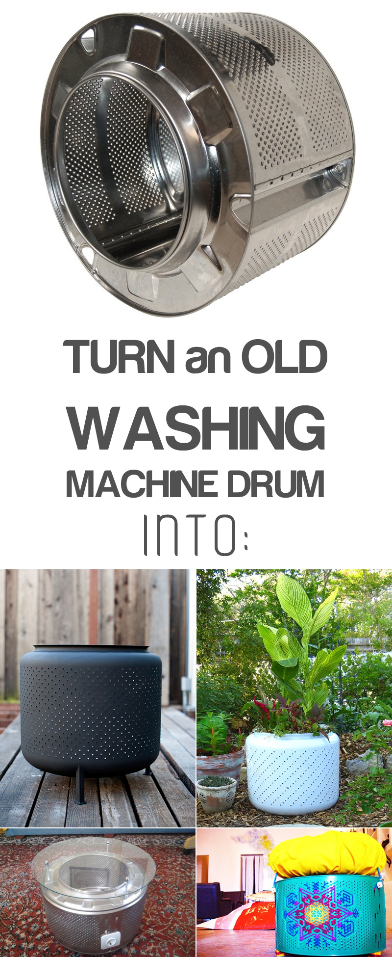 12 Creative Ways to Recycle Washing Machine Drums