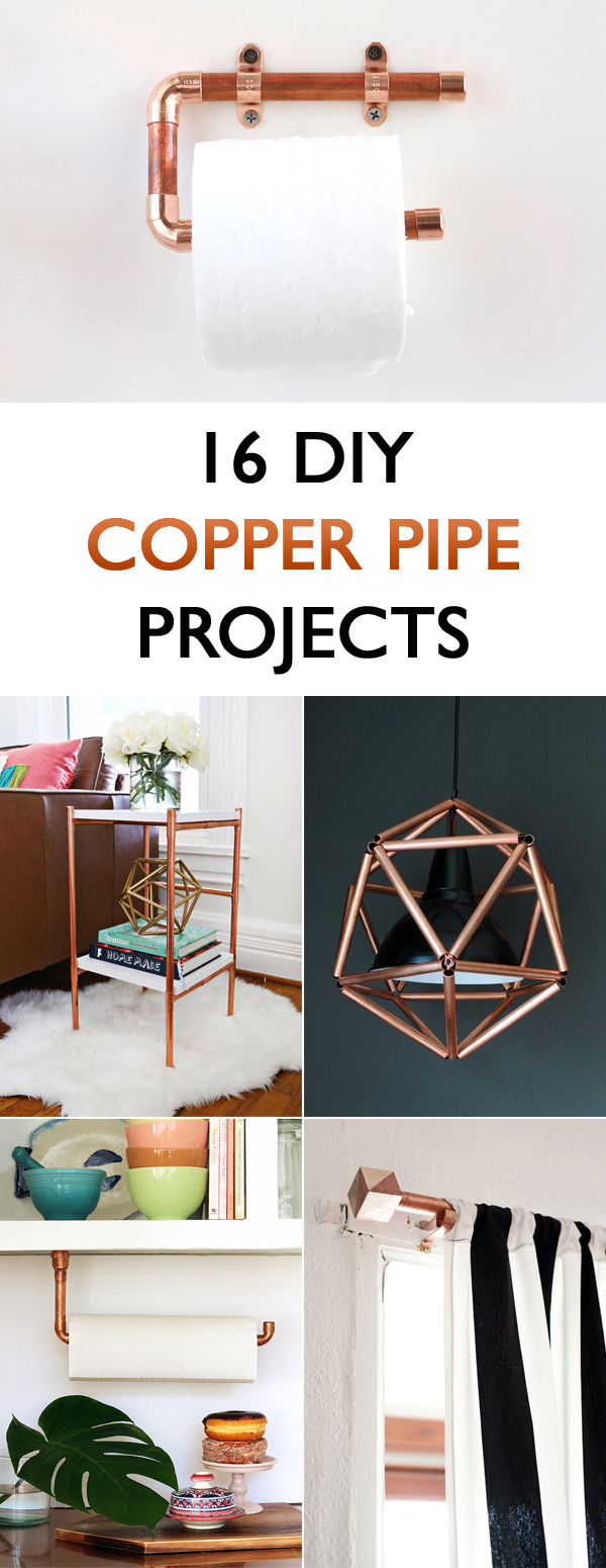 16 DIY Copper Pipe Projects For Home Décor