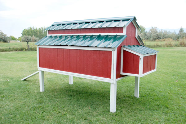 Awesome Chicken Coop That Mimics the Classic Red Barn