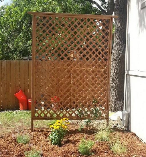12 diy garden trellis plans designs and ideas for Garden trellis ideas