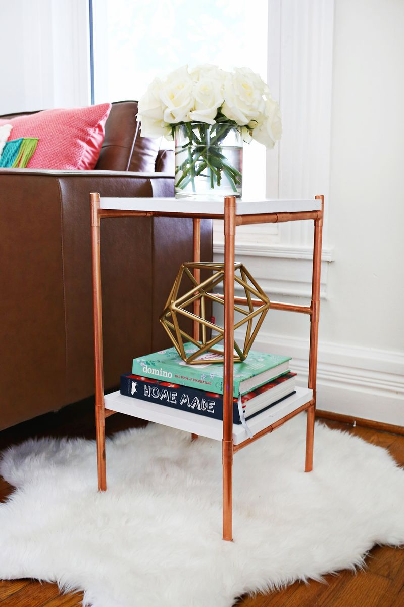 Copper Pipe Side Table