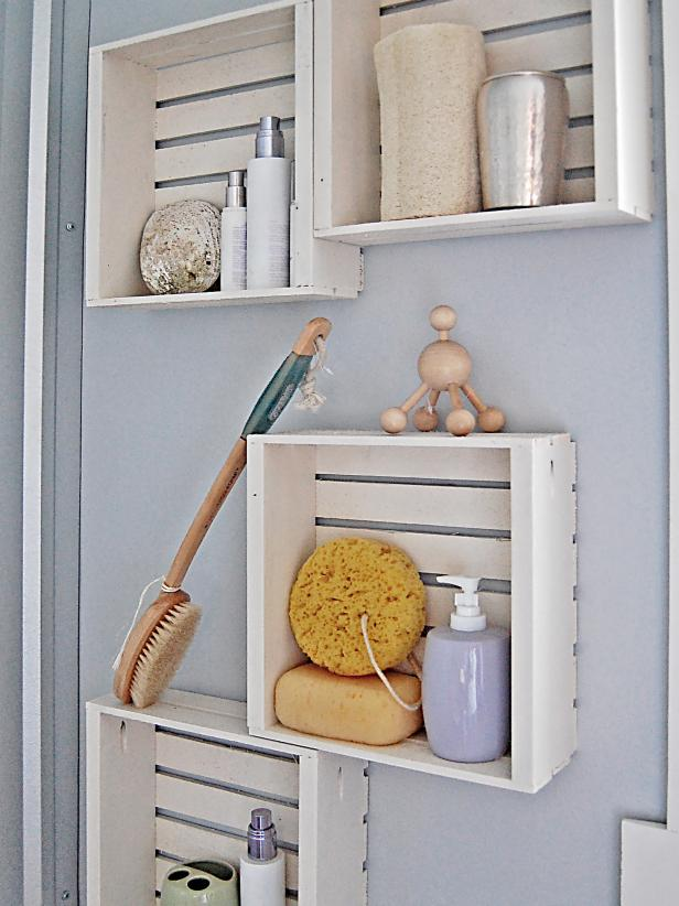 Crate Bathroom Wall Storage