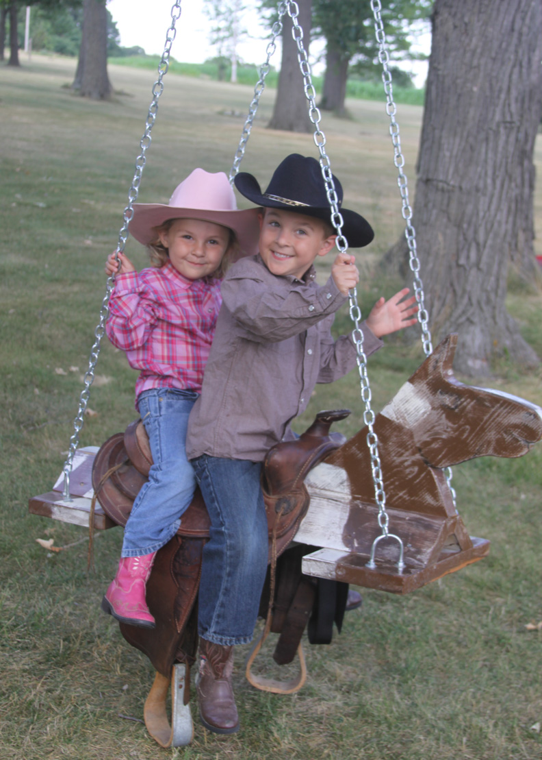 Funny Horse and Saddle Swing