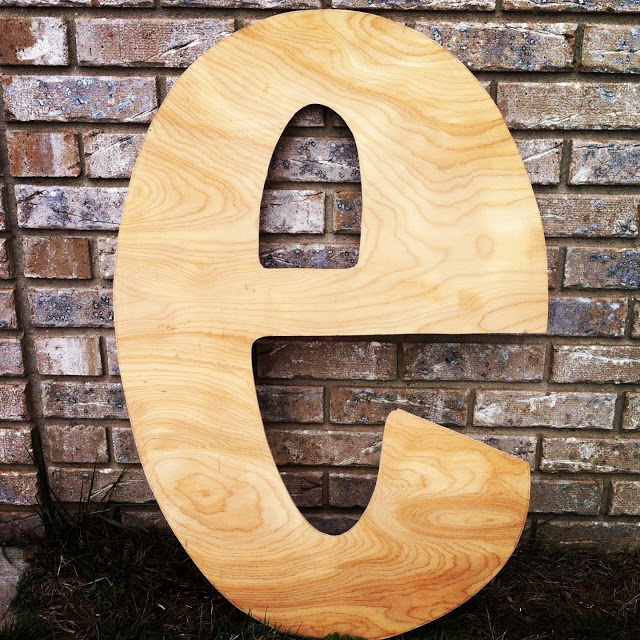 18 creative ideas to decorate your home with letters With giant wood monogram letters