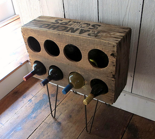 Hairpin Leg Wine Storage