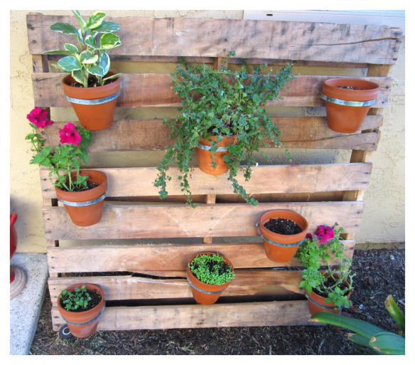 Pallet Flower Pot Planter