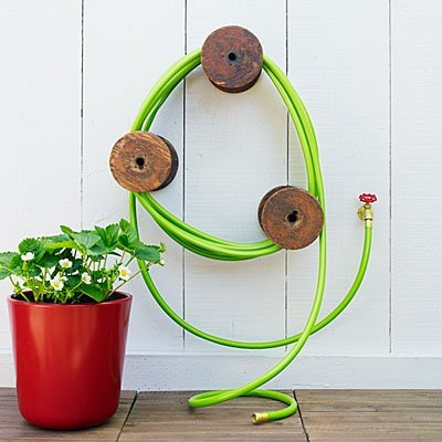 Simple Spools For Garden Hose Storage