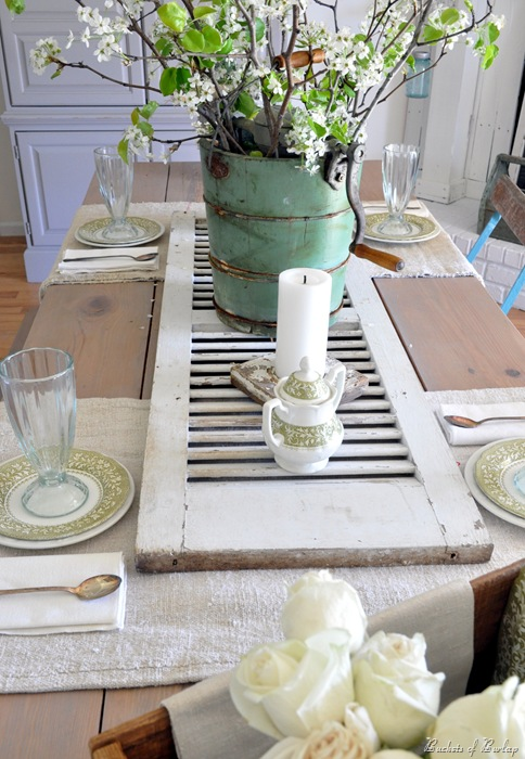 Turn Shutter into a Unexpected Centerpiece