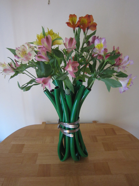 Vase Out of Garden Hose