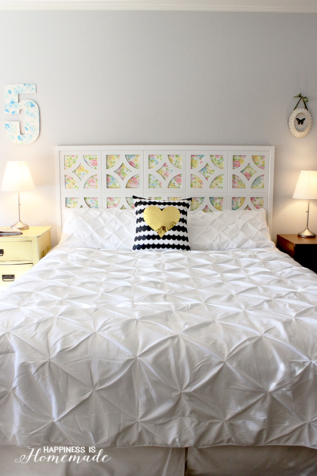 25 cheap and chic diy headboard ideas for Makeshift headboard