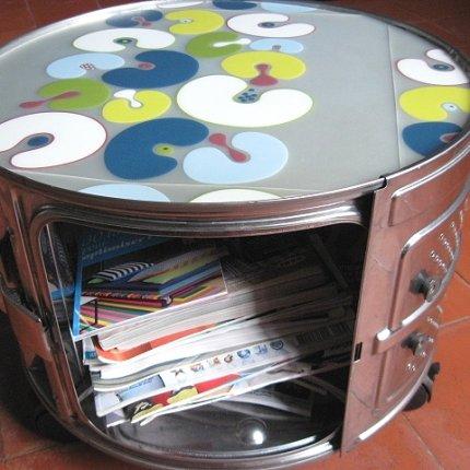 Washing Machine Drums Into Book Storage