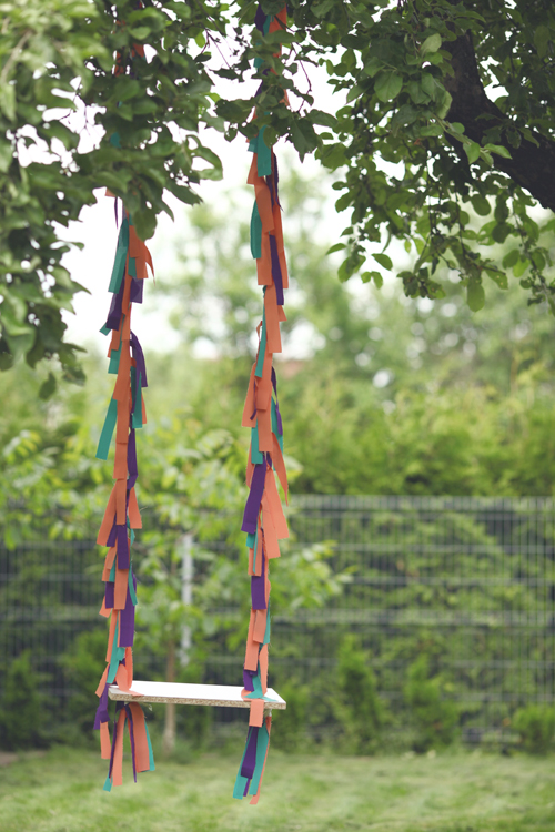 colorful tree swing
