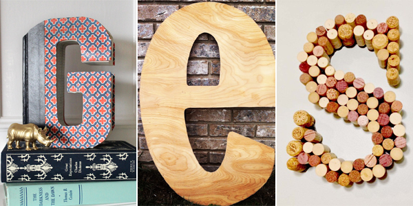 18 creative ideas to decorate your home with letters - How to decorate your home ...