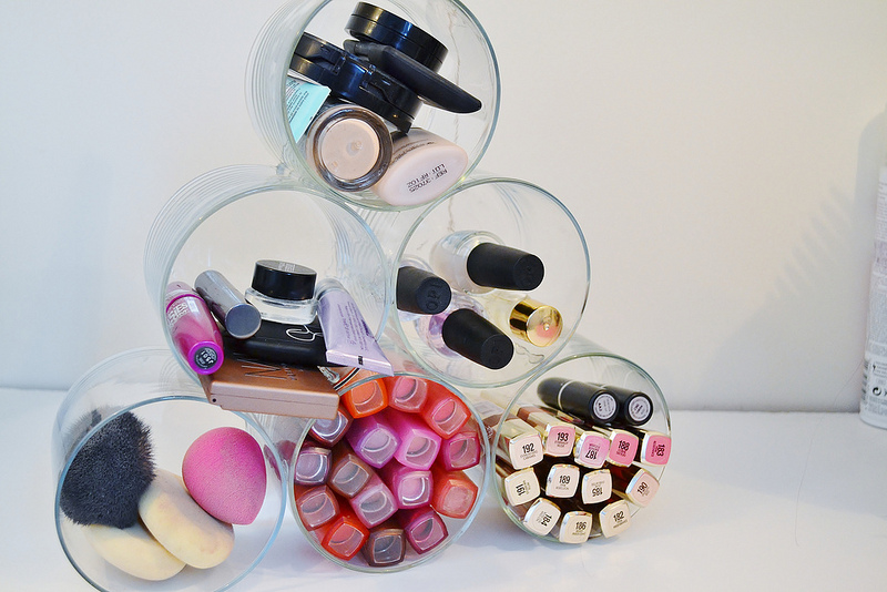Repurpose Old Candle Jars into a Makeup Organizer