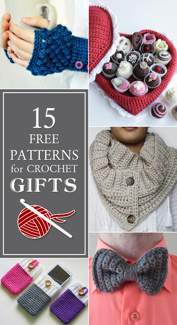 Crochet Patterns Gifts : Here are 15 free patterns for crochet gifts: