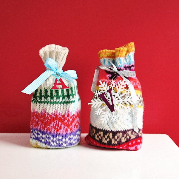 Recycled Sweater Wrapping