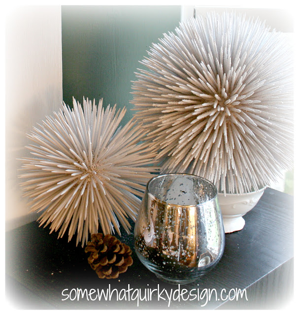 Cool toothpick snowballs