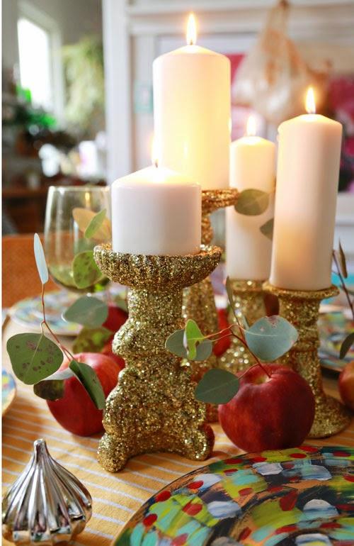 Glitter Candlesticks