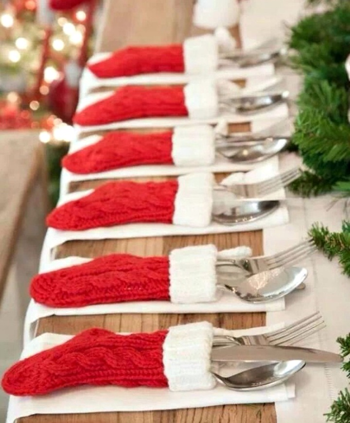 Mini Stocking Table Setting