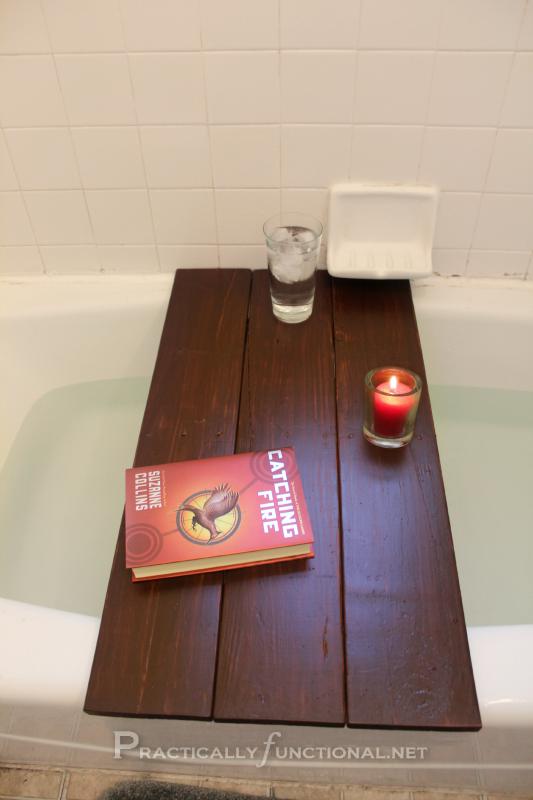 Pallet Into Bath Shelf