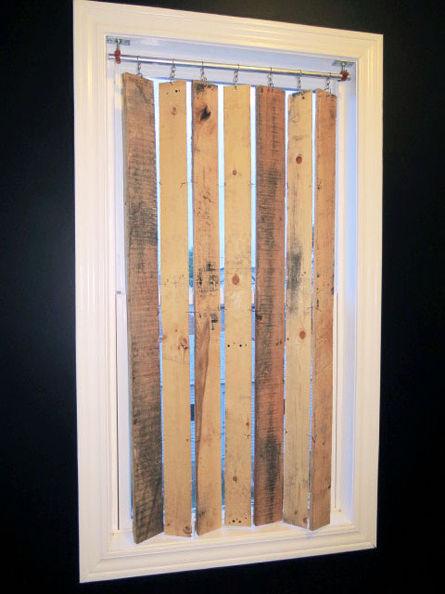 Pallet Wood Vertical Blinds