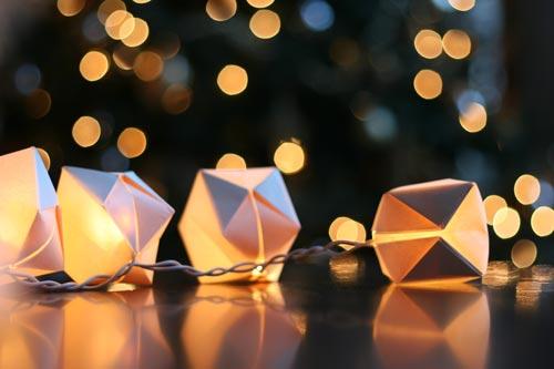 Paper Cube String Lights