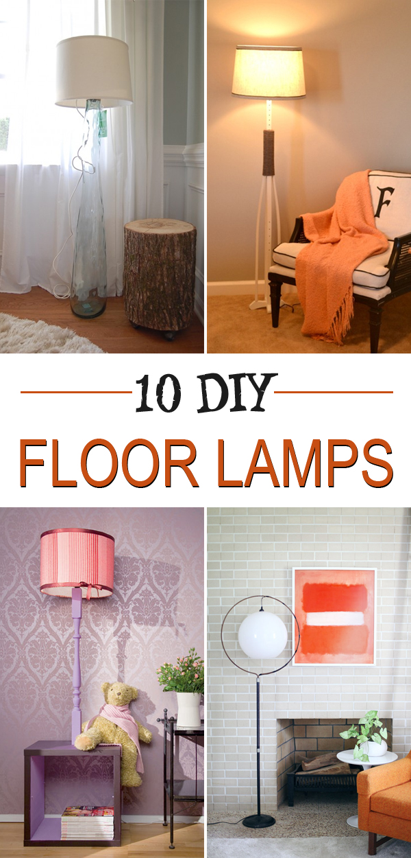 Personalize your home decor by creating your own floor lamp