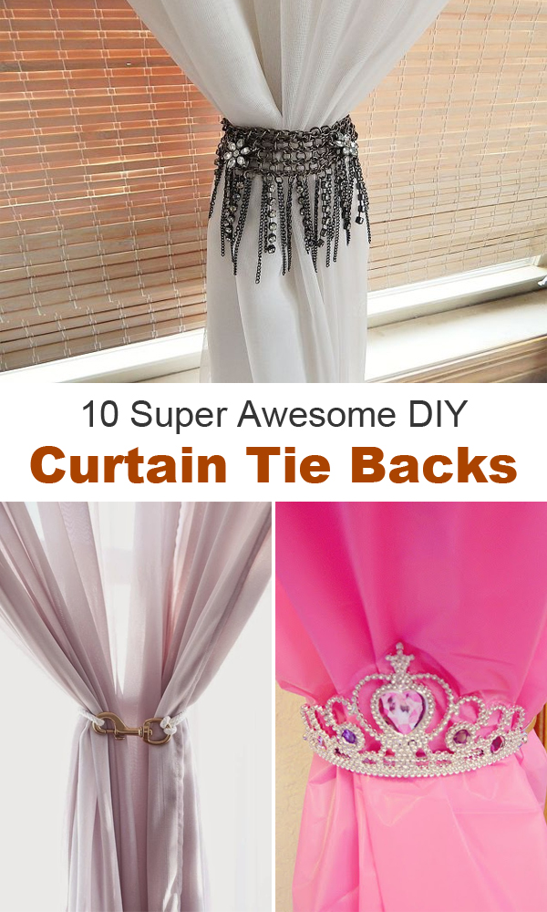 10 Super Awesome DIY Curtain Tie Backs #DIY