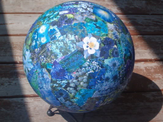 Decoupaged a Bowling Ball