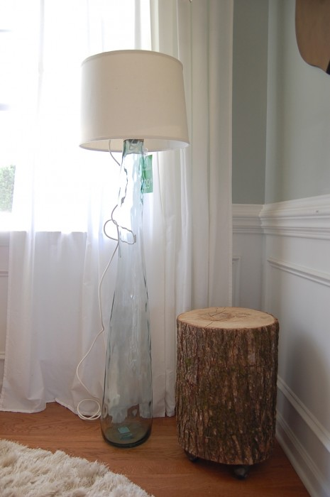 Glass Floor Lamp